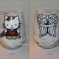 Daryl Dixon Hello Kitty juice glass