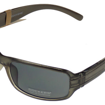 Levi Strauss DOCKERS Sunglasses 100%UV Rectangular Gray Plastic 62-20-130 Mens