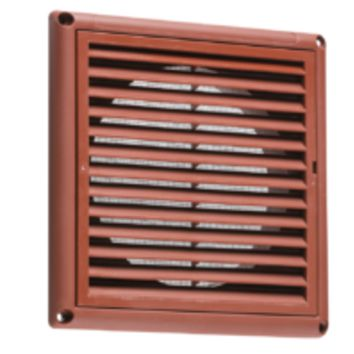 "KB EX0010T 150MM/6"" EXTRACTOR FAN GRILLE WITH FLY SCREEN - TERRACOTTA"