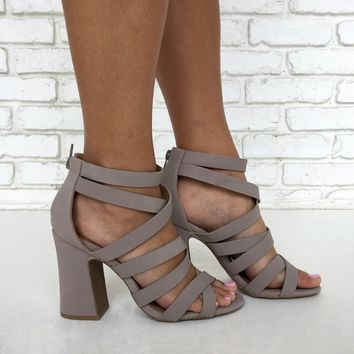 Everly Heels in Light Grey