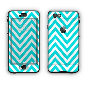 The Trendy Blue Sharp Chevron Pattern Apple iPhone 6 LifeProof Nuud Case Skin Set