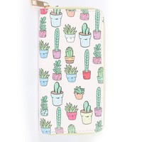 Cactus Party Zipper Wallet