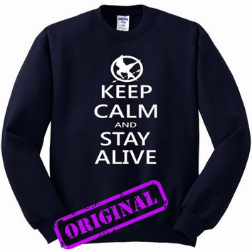hunger games quotes for Sweater navy, Sweatshirt navy unisex adult