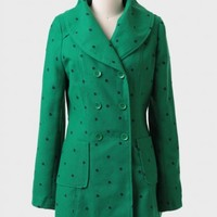 Skipping Town Polka Dot Coat By Tulle