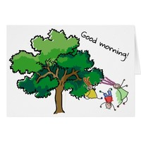 Childrens good morning card