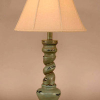 Atlantic Grey French Twist Table Lamp
