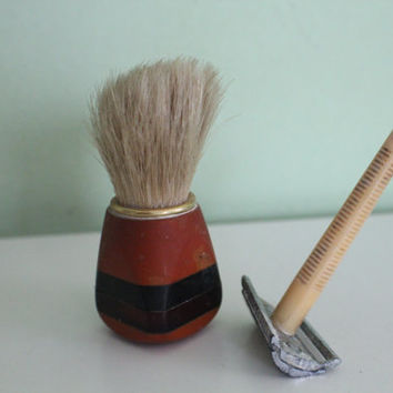 Soviet Vintage Shaving SET, Brush, made in USSR, Russian, CCCP