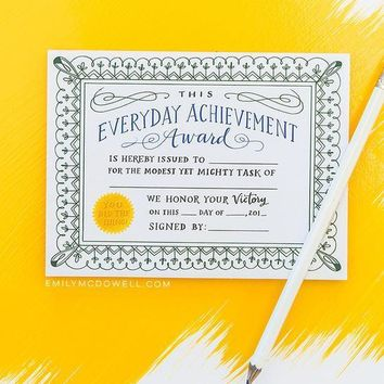 Everyday Achievements Award Pad - 75 Fill-In Awards!
