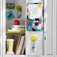 Gear-Up Black Pop Dot Locker Dry-Erase/Pocket