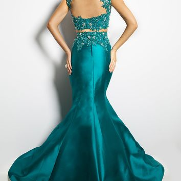 Taffeta Teal Prom Dress 24206 - Prom Dresses