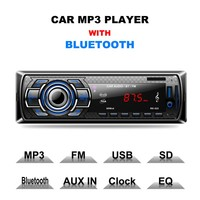Car Radio Stereo Player Bluetooth Phone AUX-IN MP3 FM/USB/1 Din/Remote Control 12V Car Audio Auto Car Styling