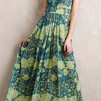 NWT Anthropologie $368 Watercolor Garden Maxi Dress Sz 6 & 8 - By James Coviello