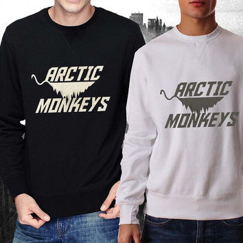 New Arctic Monkey sweater Black and White Sweatshirt Crewneck Men or Women Unisex Size