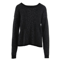 Joie Womens Knit Animal Print Pullover Sweater