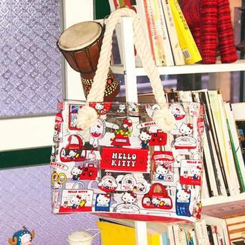 My melody Hello kitty transparent Beach Bags fashion tote shopping handbag storage bag new