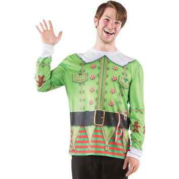 Men's Costume: Ugly Christmas Elf Sweater | Medium