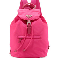 Vela Medium Backpack, Pink (Fuxia) - Prada