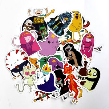TD ZW 25Pcs American Drama Adventure Time Funny Sticker Decal For Car Laptop Bicycle Motorcycle Notebook Waterproof Stickers