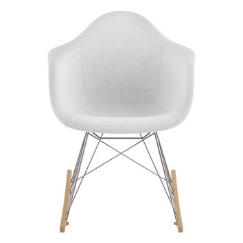 Mid Century Rocker Chair Glacier White