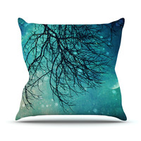 "Sylvia Cook ""Winter Moon"" Throw Pillow"