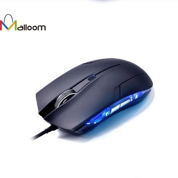 Malloom New Cobra Optical 1600 DPI USB Wired Gaming Game Mouse For Games PC Laptop Black