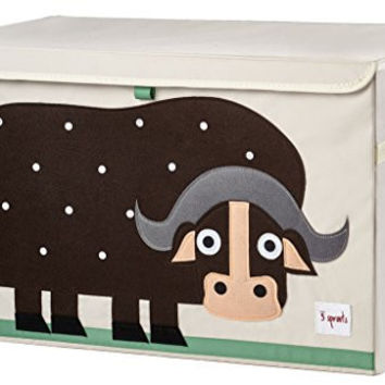 3 Sprouts Toy Chest, Hippo, Pink