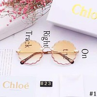 CHLOE 2018 new flower-shaped round color film polarized sunglasses #1