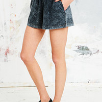Staring at Stars Acid Wash Shorts in Grey - Urban Outfitters
