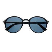 Stylish Retro Fashion Keyhole Round Sunglasses Matte Black R2780