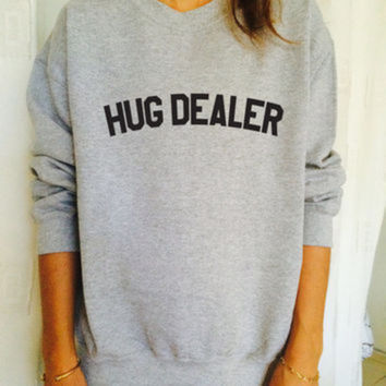 HUG DEALER Women's Casual Black & White Crewneck Sweatshirt