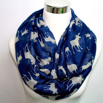 2015 New fashion moose infinity scarf  Animal printed circle scarves = 1957936196