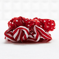 Vintage Renewal Scrunchies in Stripe and Polka Dot - Urban Outfitters