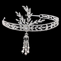 Gatsby headband Great Gatsby forehead band 1920s Art Deco style wedding bridal hair accessories vintage headpiece