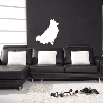 Pomeranian Breed Decal Pet Animal Wall Decal Sticker Dog Puppy Decal 10518
