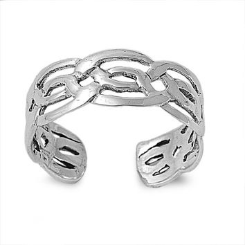 Sterling Silver Wicca Celtic Craft 6MM  Toe Ring/ Knuckle/ Mid-Finger