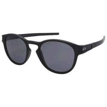 Oakley OO 9265-01 LATCH Matte Black with Grey Lens Mens Womens Sunglasses .