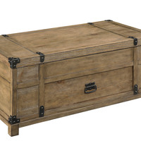Carmel Natural Lift Top Cocktail Storage Table