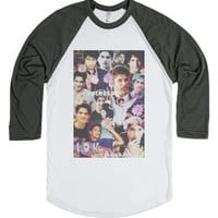 Tyler Posey Collage-Unisex White/Asphalt T-Shirt