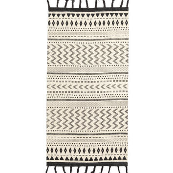 Fringed Cotton Rug - from H&M