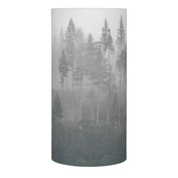 Misty Forest Photo Flameless Candle