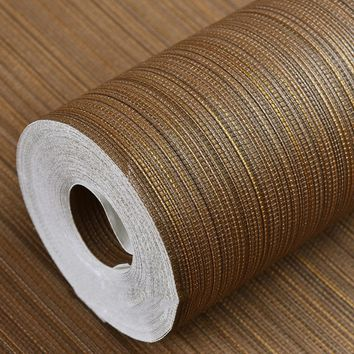Modern Plain Solid Color Straw Textured Wallpapers Horizontal Faux Grasscloth Washable Vinyl Vertical Strip Wall Paper Roll