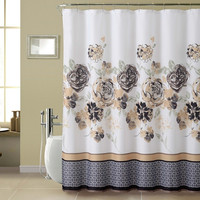 Tabitha 13pc Set with Rollerball Hook Shower Curtain