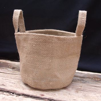 Jute Burlap Baskets - Cute Gift Bags & Bins - TM990