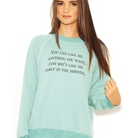 WILDFOX Call Me Anytime Kim Sweater in Rain Drop | Boutique To You