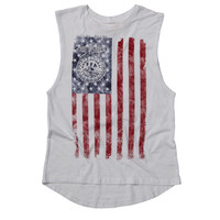 FLAG SLEEVELESS ROCKER TEE