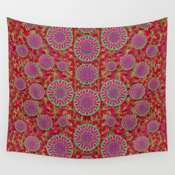 Hearts can also be flowers such as bleeding hearts pop art Wall Tapestry by Pepita Selles