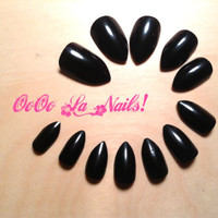 SHORT Stiletto Nails- Available in Different Colors