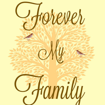 Forever My Family, Digital Download Print, Digital Home Decor, Family Wall Art, 8x10 Print, Print From Home, Instant Download