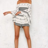 Geometry Playsuit White