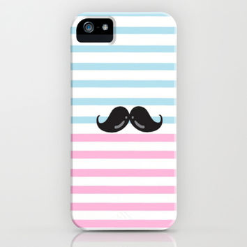 Mustache You A Question iPhone & iPod Case by Pink Berry Pattern